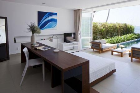 chambre principale ouverte sur terrasse - sofka par MM++ Architects - Phan Thiet, Vietnam