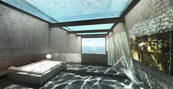 chambre & piscine au-dessus - Casa Brutale par OPA_Open Plateform - Grèce