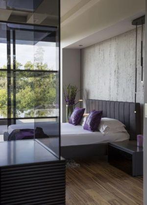 chambre principale - House-in-Blair-Atholl par Nico van der Meulen Architectes - Johannesburg, Afrique du Sud