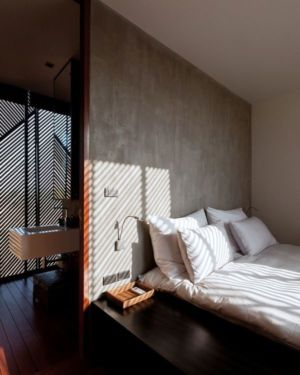 chambre principale - KA-House par IDIN Architects - Pak Chong, Thaïlande
