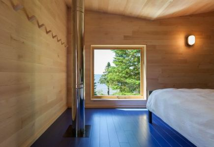 chambre principale - Lake-House par David Salmela -  Wisconsin, USA