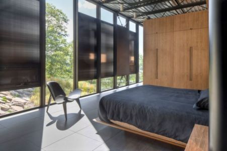 chambre principale - Shokan-House par Jay Bargmann - New York, USA