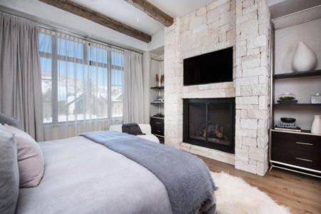 chambre principale & coin TV - Vail-Ski-Haus par Read Design Group - Vail, USA