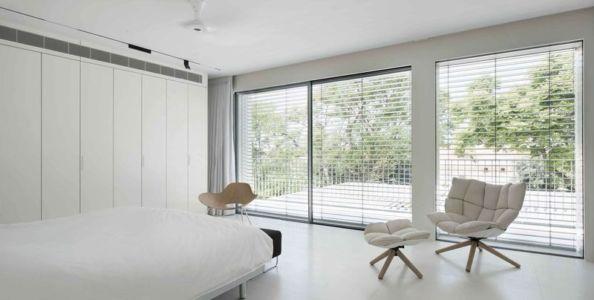 chambre principale & grande baie vitrée - Aluminum-Home par Studio-de-Lange - Kfar-Shmaryahu, Israël