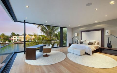 chambre principale & mini bureau - Miami Beach Home par Luis Bosch - Miami Beach, USA