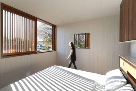 chambre principale - spiegel-haus par Carterwilliamson Architectes - Sydney, Australie