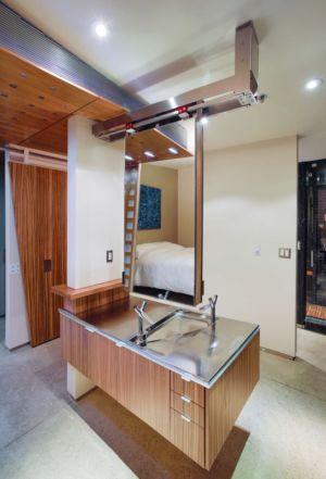 chambre salle de bains  - Flute house par The Think Shop Architects - Royal Oak , Usa