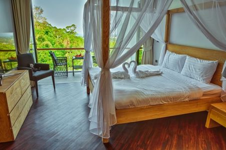 chambre secondaire - villa contemporaine - Phuket, Thaïlande