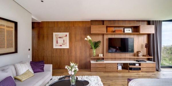 chambre tv - Garden house par VGZ Architecture - Mexico, Mexique
