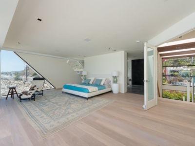 chambre - villa contemporaine à Malibu, Usa