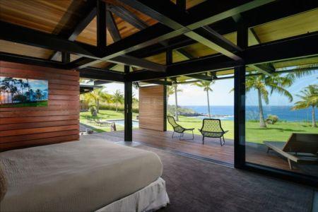 chambre & vue panoramique océan - Kapalua-Home par Olson Kundig Kaprzycki Designs - Hawaï, USA