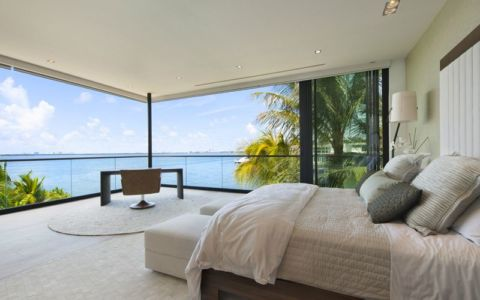 chambre & vue panoramique océan - Miami Beach Home par Luis Bosch - Miami Beach, USA
