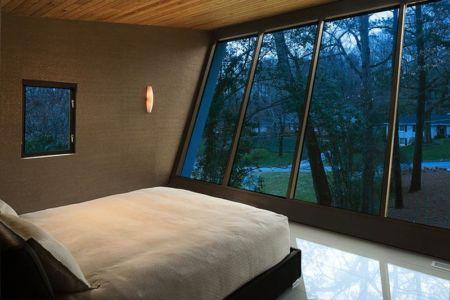 chambre - wing-roofed home par Staffan Svenson architect - Atlanta, Usa