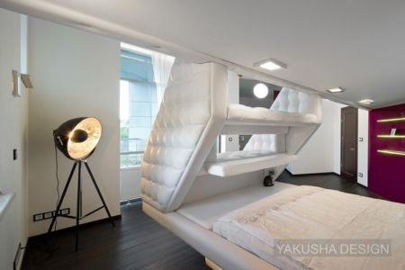 chambre1 - House «Ecominimalizm». par Yakusha Design - Dnipropetrovsk, Ukraine