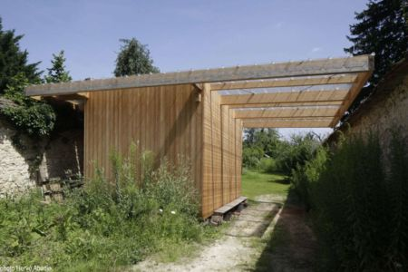 charpente bois toiture - House-The-Grove par Arba - France