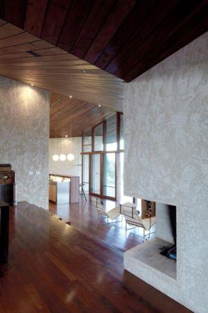 cheminée - Clifftop House Maui par Dekleva Gregoric Arhitekti - Maui, Hawaï
