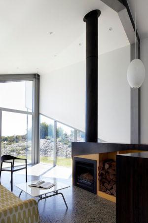 cheminée - Scape House par Andrew Simpson Architects - Victoria, Australie