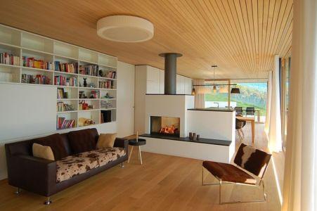 cheminée - Schaan Residence par K_M Architektur - Liechtenstein