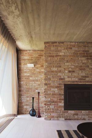 cheminée en pierre design - maison exclusive par CplusC - Waverley, Australie