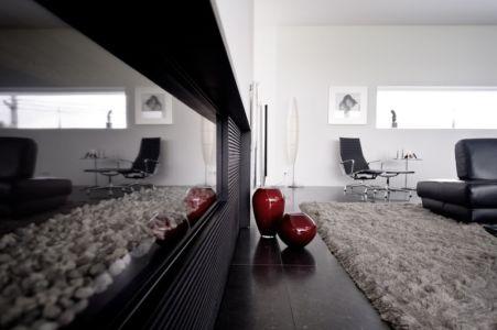 cheminée - maison contemporaine par Luc Spits, Belgique
