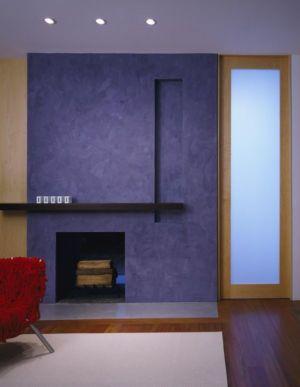 cheminée salon - Hargrave-Residence par Robert M. Gurney Architect - Maryland, Etats-Unis