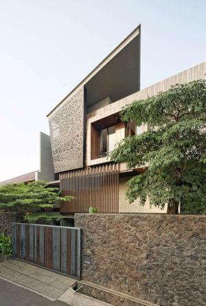 façade principale - Ben House-GP par Wahana Architects - Jakarta, Indonésie