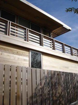 clôture bois - Fire-Island-House par John Butterworth - New-York, USA