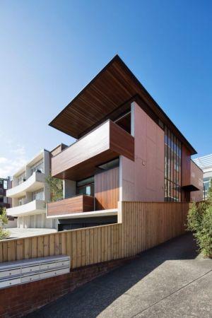 clôture bois & briques - Queenscliff-Design par Watershed Design - Sydney, Australie