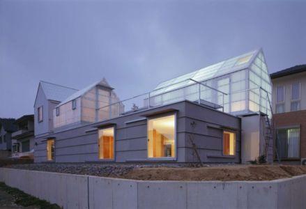 façade extérieure nuit - House-Yamasaki par Tato Architects-You Shimada - Hyogo,Japon