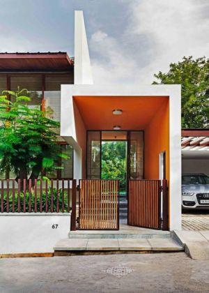 entrée et portillon - L-Plan-House Klosla Associates - Bangalore, Inde