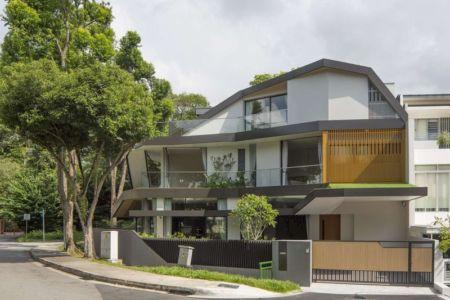 clôture & entrée principale - Trevose-House par Ad-Lab - Singapour