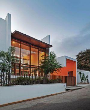 clôture façade rue principale - L-Plan-House Klosla Associates - Bangalore, Inde