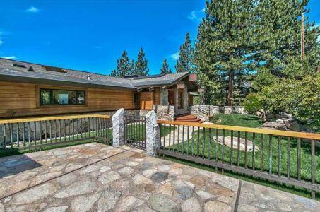 façade entrée cloturée - lake-view-cabin - Nevada, USA