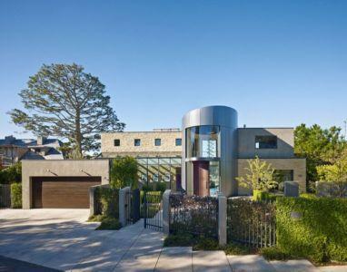 clôture - maison exclusive par Polsky Perlstein Architectes - San Francisco, USA