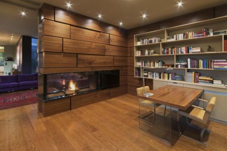 coin bibliothèque - Reviving Mies par Architéma - Buda Hills, Hongrie