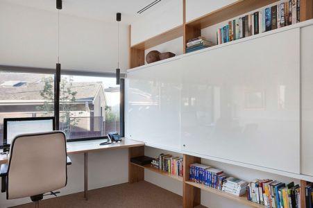 coin bureau - Maison contemporaine bois béton par BG Architecture - Melbourne, Australie