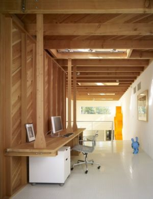 coin bureau en bois - Norwich Residence par Clive Wilkinson Architects - West Holywod, Usa