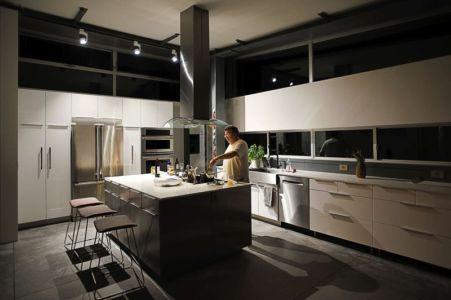 coin cuisine - Anthrazit House par Architects Magnus - Santa Barbara, Usa