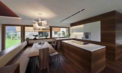 coin cuisine - Brunner House par Norbert Dalsass - Italie