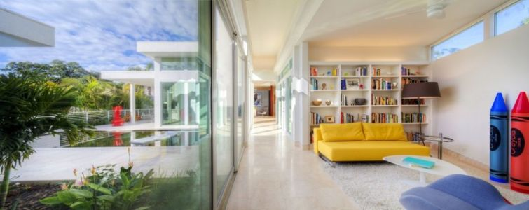coin détente - Light Box House par Jonathan Parks Architect - Lido Shores, Sarasota, Usa