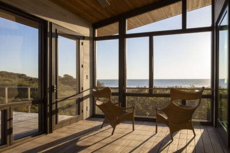 coin repos et panorama - House of Shifting Sands par Ruhl Walker Architects - Wellfleet, Usa