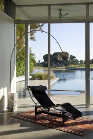 coin rocking chair - Boano Lowensitein Residence par KZ Architecture - Miami, Usa
