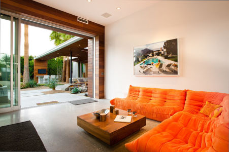 coin sofa - F-5 Residence par Studio AR+D Architects - Indian Wells, Usa