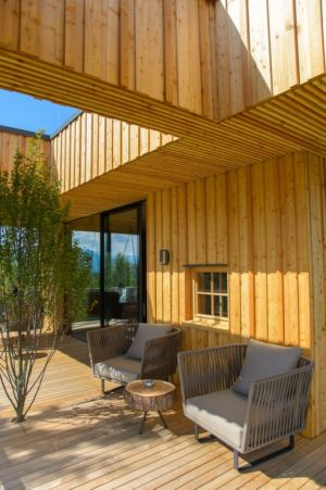 coin terrasse - Deluxe Mountain Chalets par Viereck Architects - Styria, Autriche