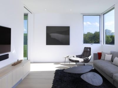 coin tv - Orchard House par Stelle Lomont Rouhani Architects - Sagaponack, Usa