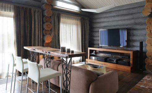 coin tv - Wooden Cottage par Elena Sherbakova près de Moscou, Russie