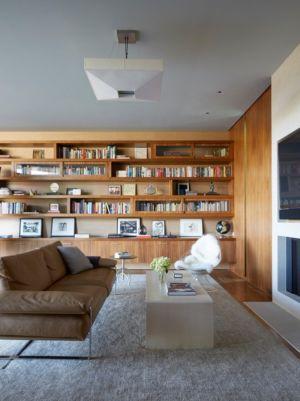 coin tv bibliothèque - Chatauqua Residence par Studio William Hefner - Californie, Usa