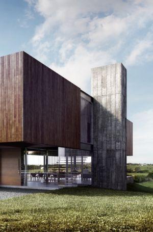 conduit cheminée extérieure - MM house par Sergio Sampaio - Brésil