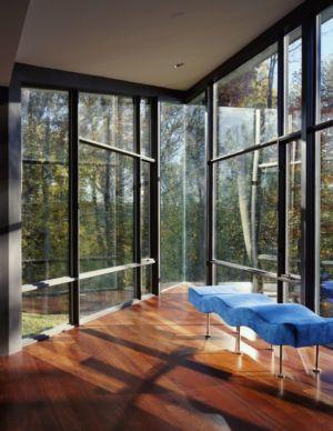 couchette coin repos - Hargrave-Residence par Robert M. Gurney Architect - Maryland, Etats-Unis