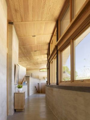couloir - Caterpillar- House par Feldman Architecture - Californie, USA
